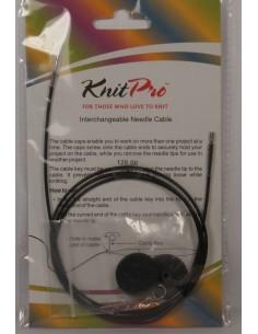 Żyłka KnitPro do drutów z końcówkami     dł 120 cm